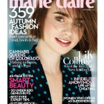 Lily Collins stuns on Marie Claire UK's October issue