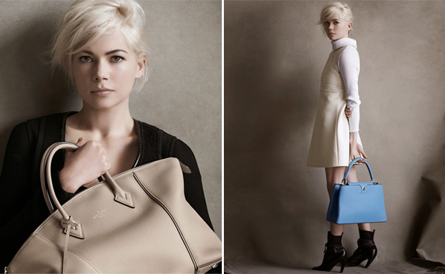 Michelle Williams returns to Louis Vuitton for a third season!
