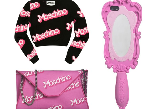 Pieces from the Barbie inspired Moschino SS15 collection can be yours RIGHT NOW!