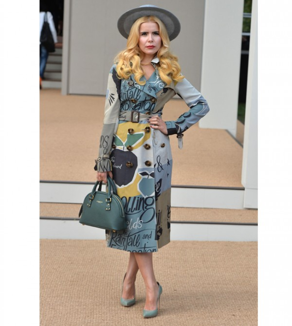Paloma Faith wows in Burberry Resort 2015 trench coat for LFW