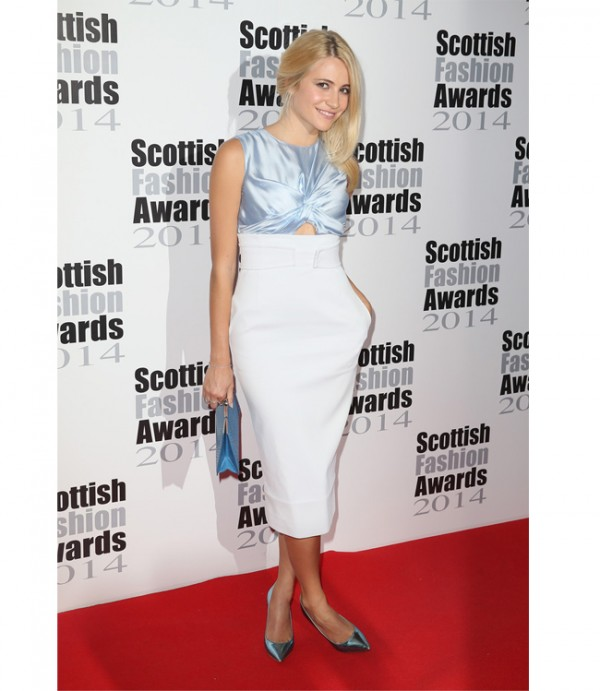 Pixie Lott is chic and sophisticated in Christian Dior at Scottish Fashion Awards