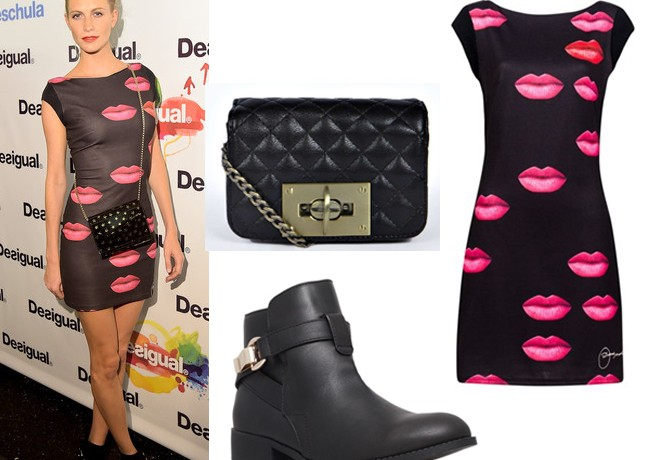 Get Poppy Delevingne's lip print Desigual look