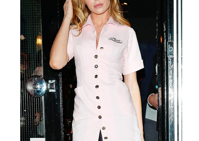 Abbey Clancy dons Agent Provocateur uniform for Breast Cancer Awareness