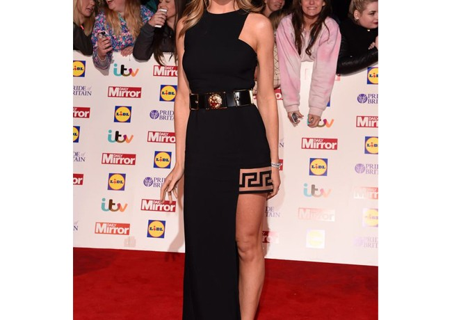 Abbey Clancy flaunts her perfect pins at Pride of Britain Awards