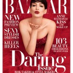 Anne Hathaway is red hot and daring for Harper's Bazaar US November issue
