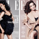Zoe Saldana joins Tina Fey, Jennifer Garner and Jessica Lange for Elle US Women in Hollywood cover