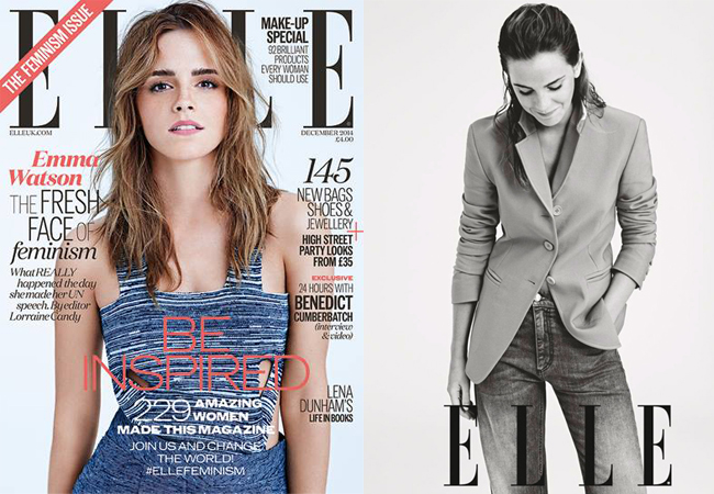 Emma Watson talks all things feminism in the Elle UK December issue