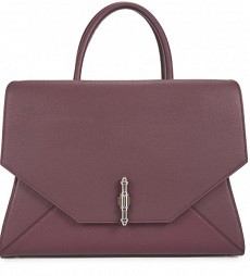 Givenchy Obsedia aubergine leather tote