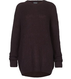 Lofty Rib Black Grunge Jumper
