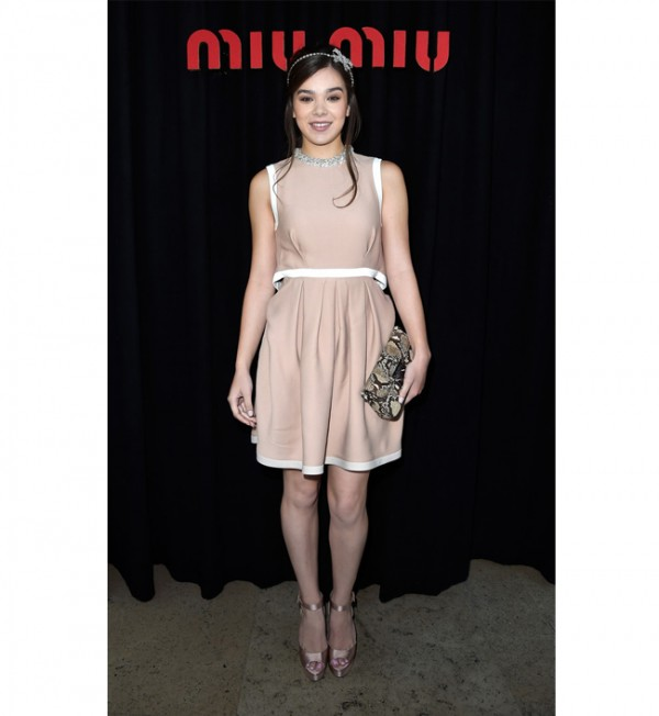 Hailee Steinfeld steals the Miu Miu FROW show!