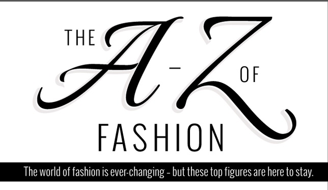 """The A-Z of fashion"" in inspirational quotes from inspirational fashion figures"