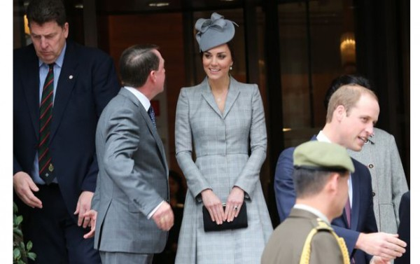 Kate Middleton wears Alexander McQueen for first public outing since her pregnancy was announced!