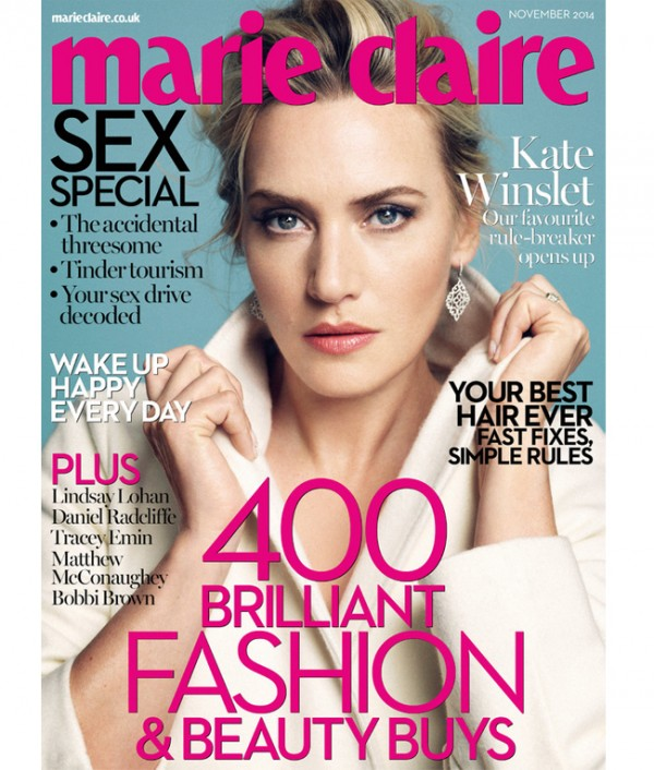Kate Winslet talks Leonardo DiCaprio, motherhood, and turning 40 in Marie Claire UK November