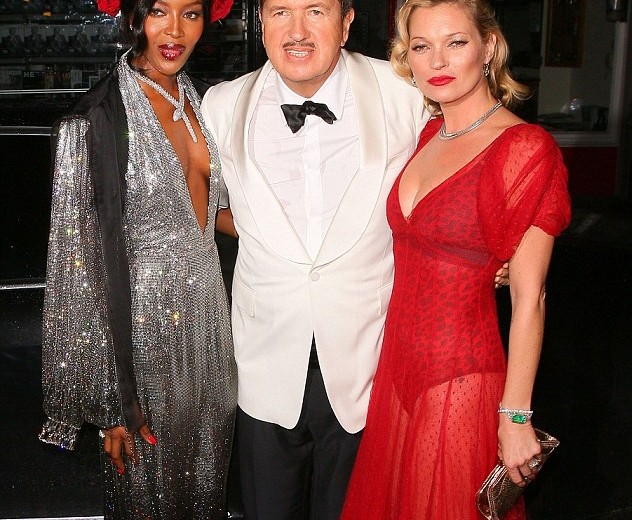 "Mario Testino celebrates his 60th birthday in ""red, black and white"" style!"