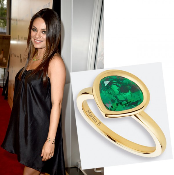 Mila Kunis turns ring designer for Gemfields