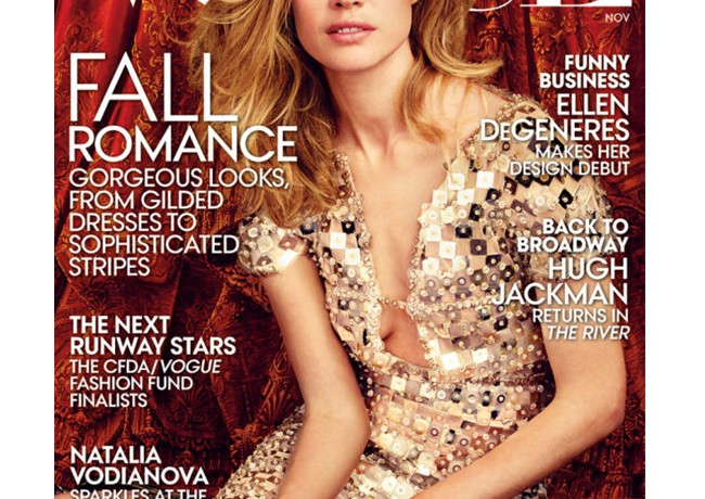 Natalia Vodianova turns ballet dancer for Vogue US November cover