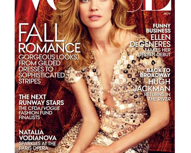 Natalia Vodianova turns ballet dancer for Vogue US November cover