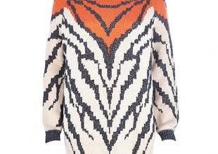 Lunchtime Buy: River Island orange metallic animal knit jumper