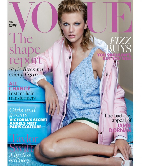 Taylor Swift wears Miu Miu for British Vogue November cover!