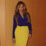 Beyoncé's hitting all the right notes with this colour block ensemble