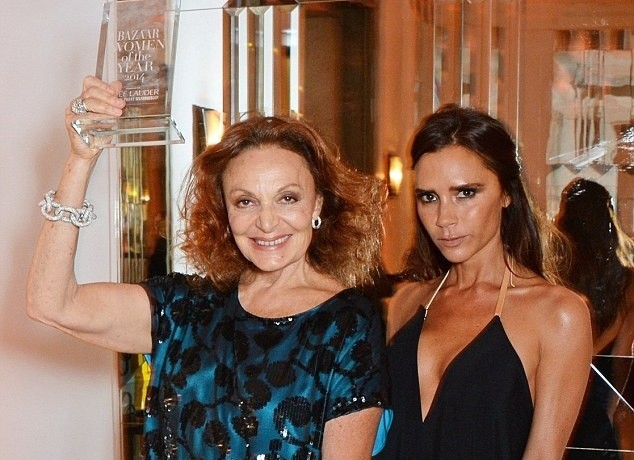 Diane Von Furstenberg wins Harper's Bazaar Fashion Icon award