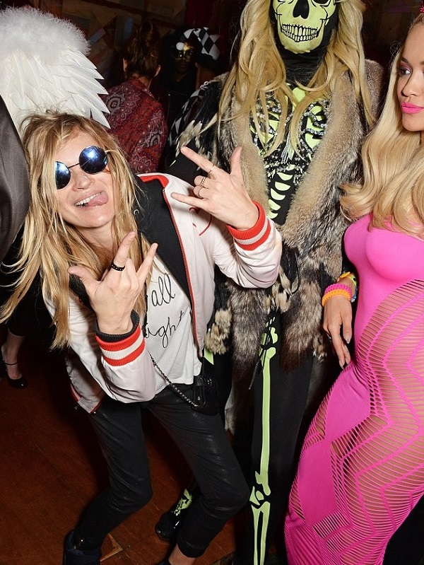 Kate Moss pays homage to Cara Delevingne for Halloween