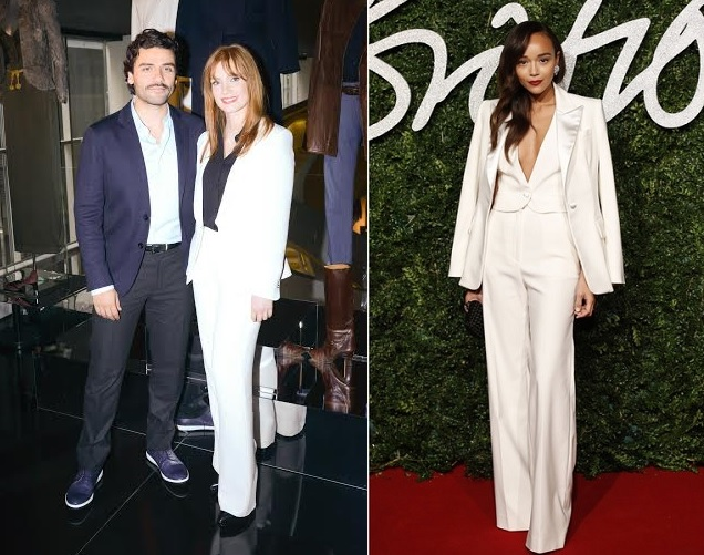 Forget the LBD. Celebs are embracing the WTS (White Trouser Suit)