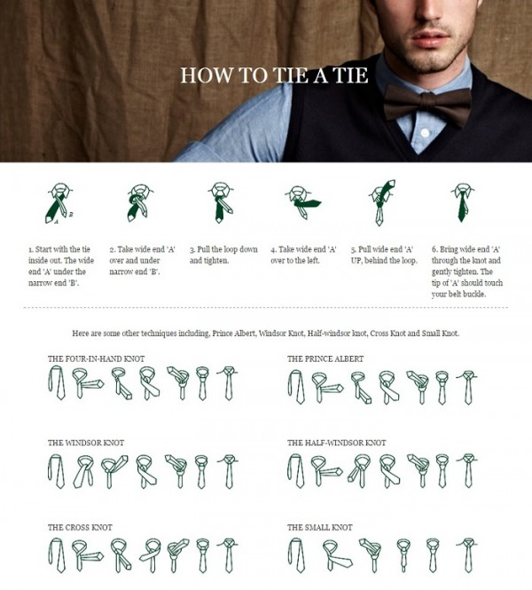 Infographic: How to tie a tie?