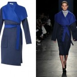 Wrap up warm in Altuzarra's timeless two tone wool coat