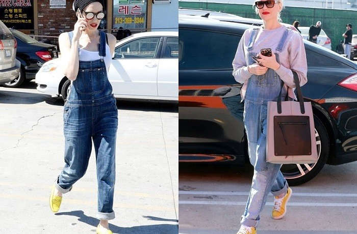 Two Ways To Wear Dungarees Courtesy of Gwen Stefani