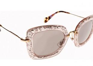 We're Lusting After Miu Miu's Glitter Cat Eye Sunglasses!