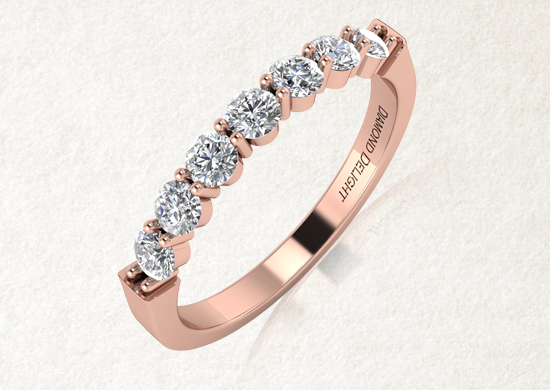 Curved Wedding Bands White Gold