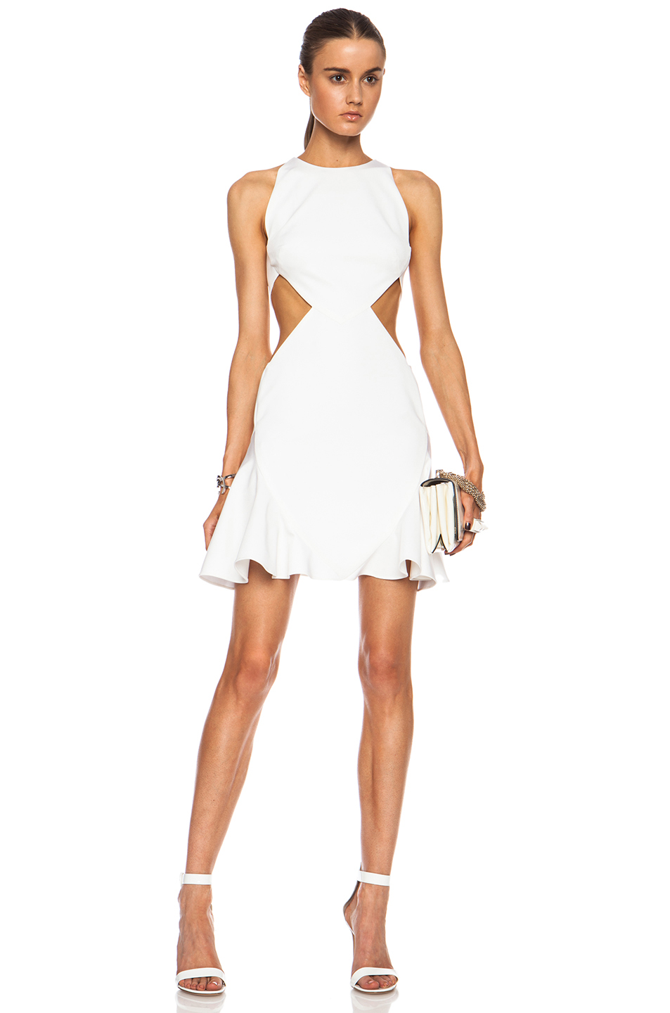 whitecutoutdress
