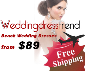 Buy beach wedding dresses free shipping from weddingdresstrend.com