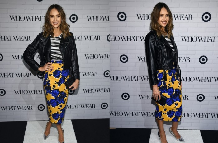 Jessica Alba Gives Us A Fresh Way To Wear Florals