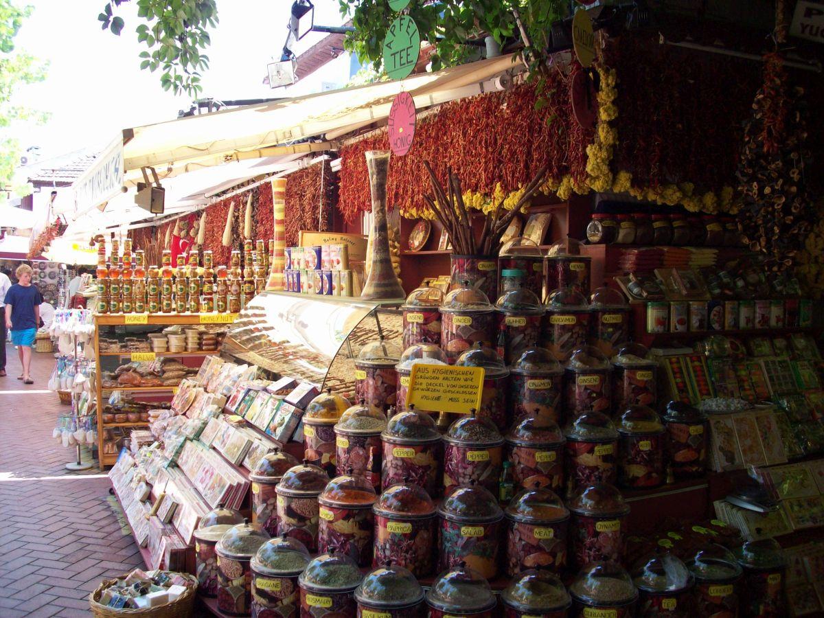 Fethiye market spice shops