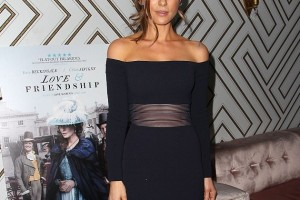 Kate Beckinsale Works The Off-Shoulder Trend At NYC Love & Friendship Premiere