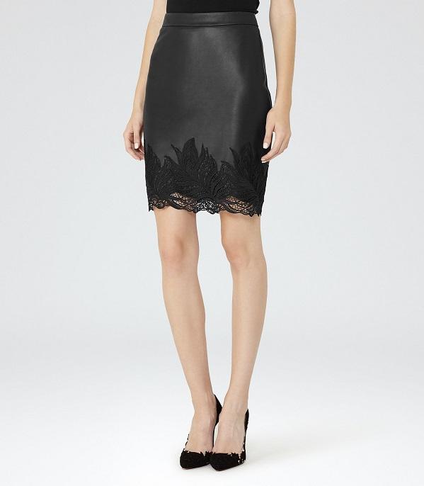 leatherlacepencilskirt