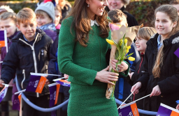 Kate Middleton Is Gorgeous In Green Hobbs Skirt Suit