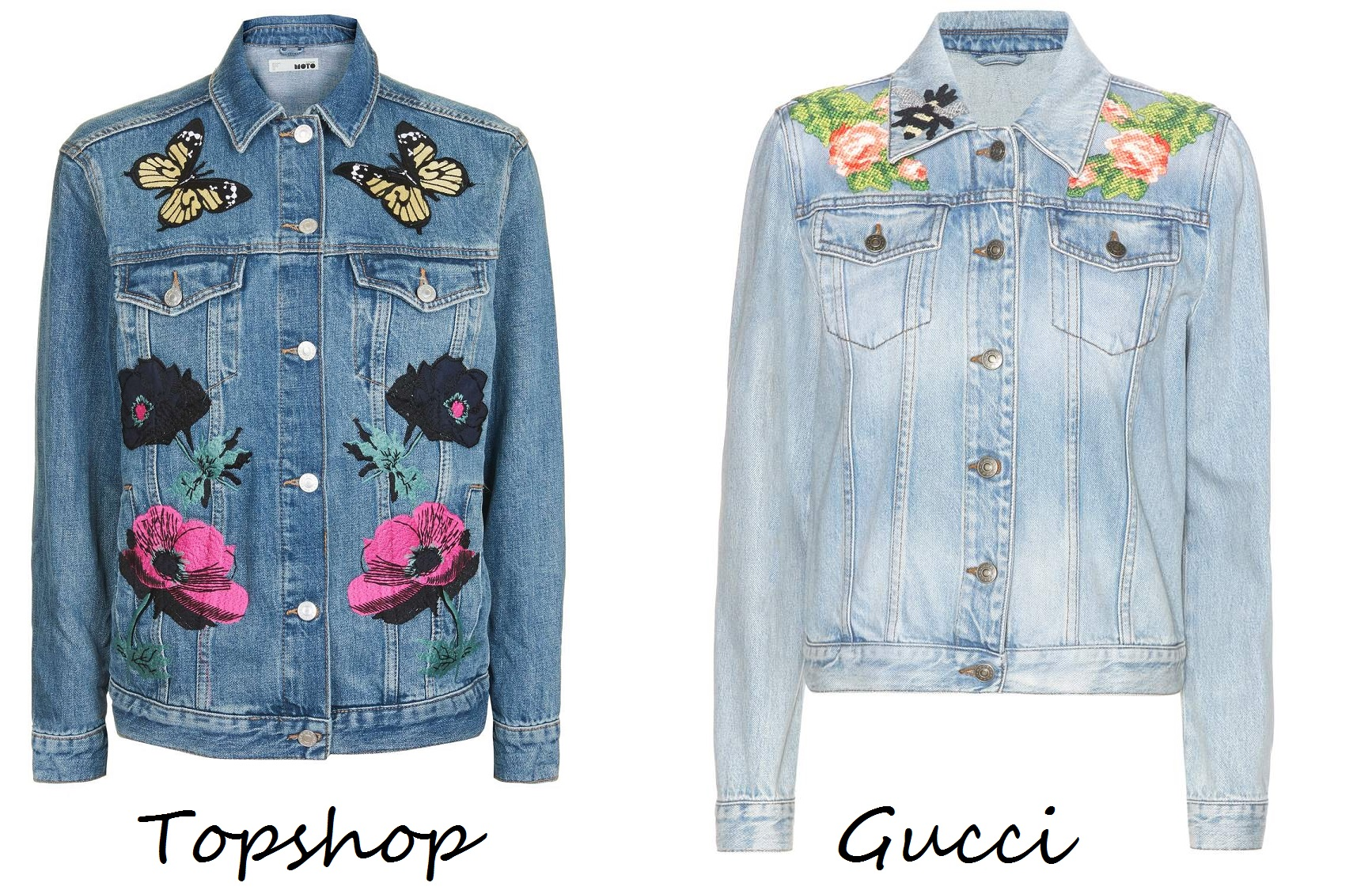 With the weather currently in transition mode, only a denim jacket will do.  And with embroidered denim here to stay for another season, of course it  makes ...