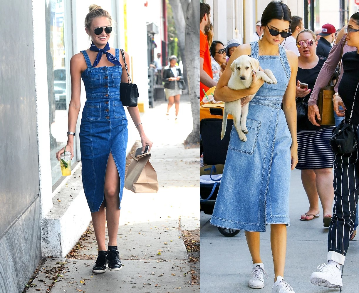 Denim Midi-Dresses