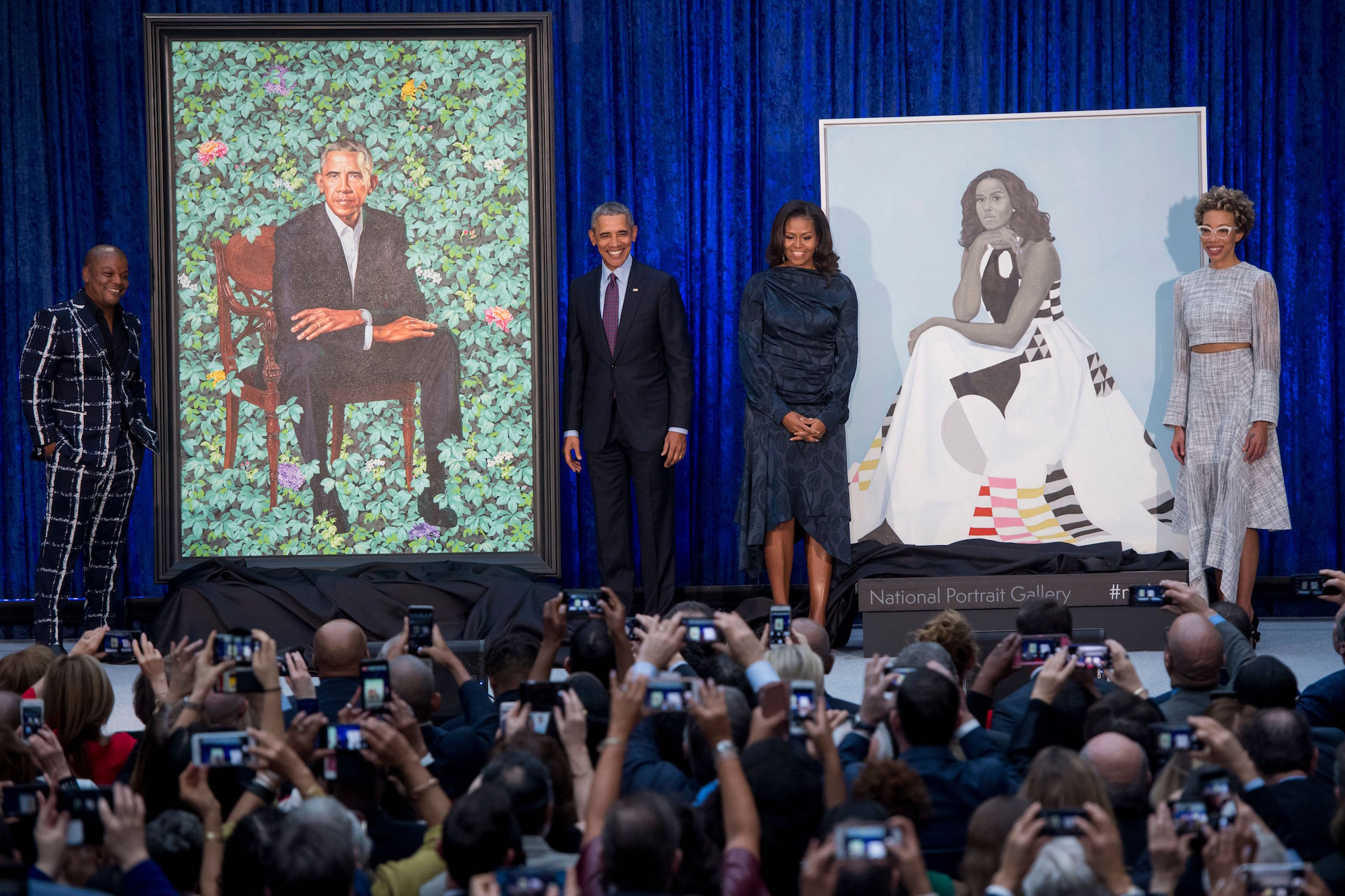 Portraits Of Barack And Michelle Obama Unveiled At The National Portrait Gallery