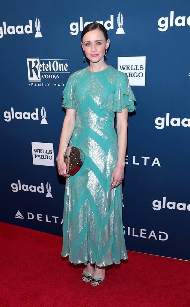 Alexis Bledel Opts For J Mendel At The GLAAD Media Awards 2018
