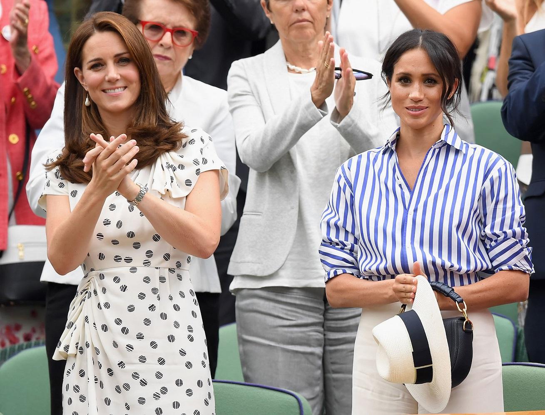 Kate Middleton And Meghan Markle Attend Wimbledon Women's Final ...