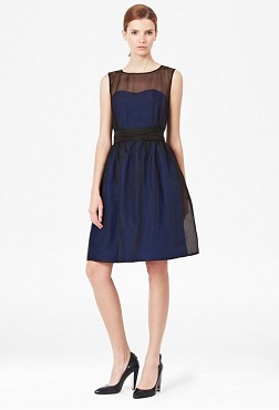 French Connection Silhouette Organza Dress