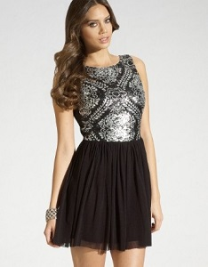 Lipsy Sequin Skater Dress
