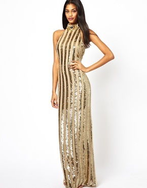 Virgos Lounge Trophy Halterneck Maxi Dress